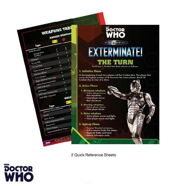 Dr. Who Quick Reference Sheets