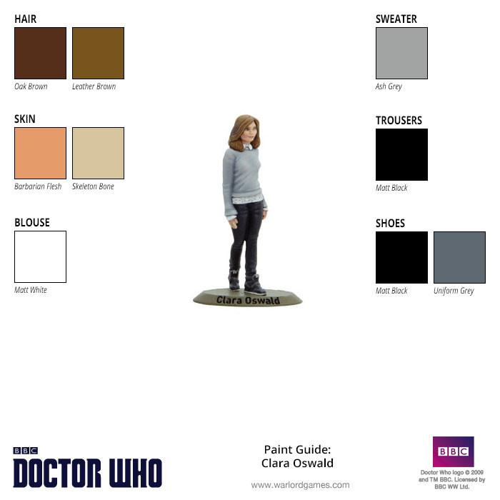 Clara Oswald Paint Guide