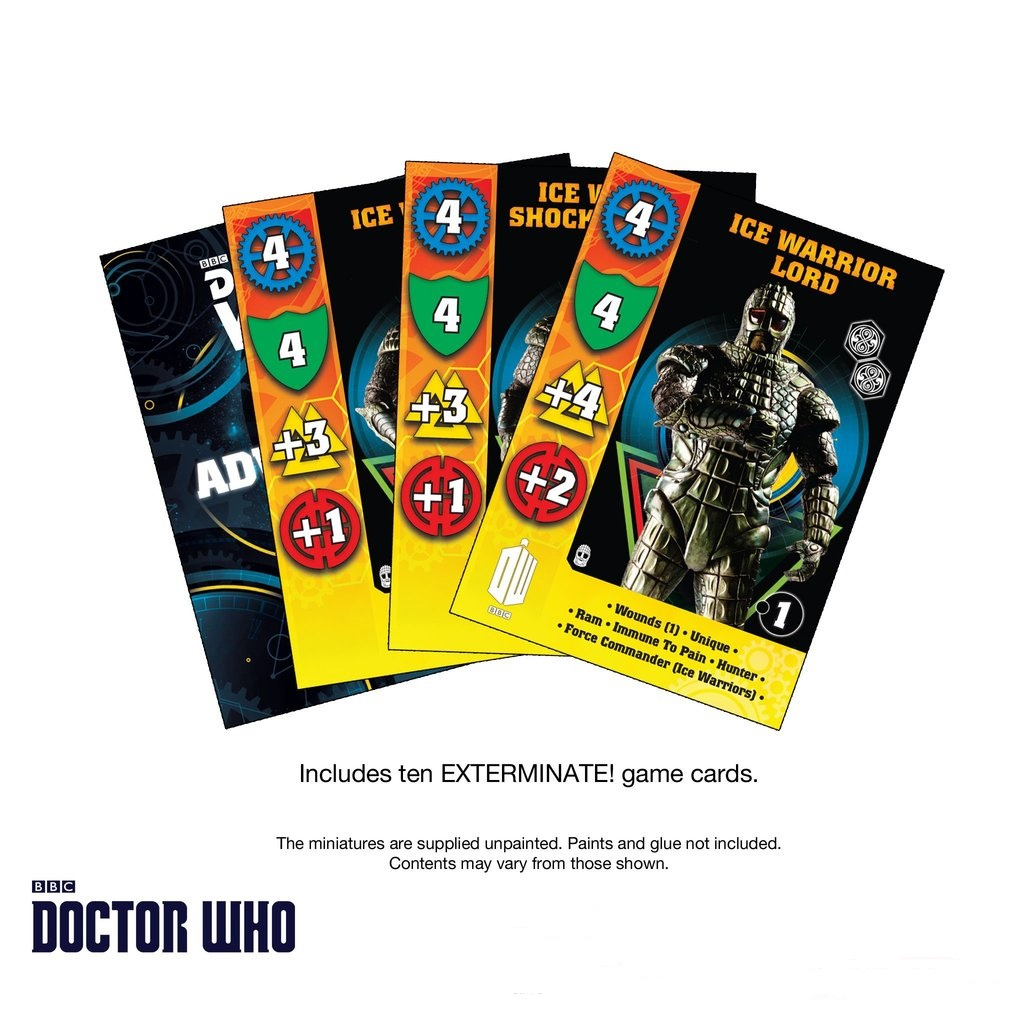 Ice Warriors Game Cards