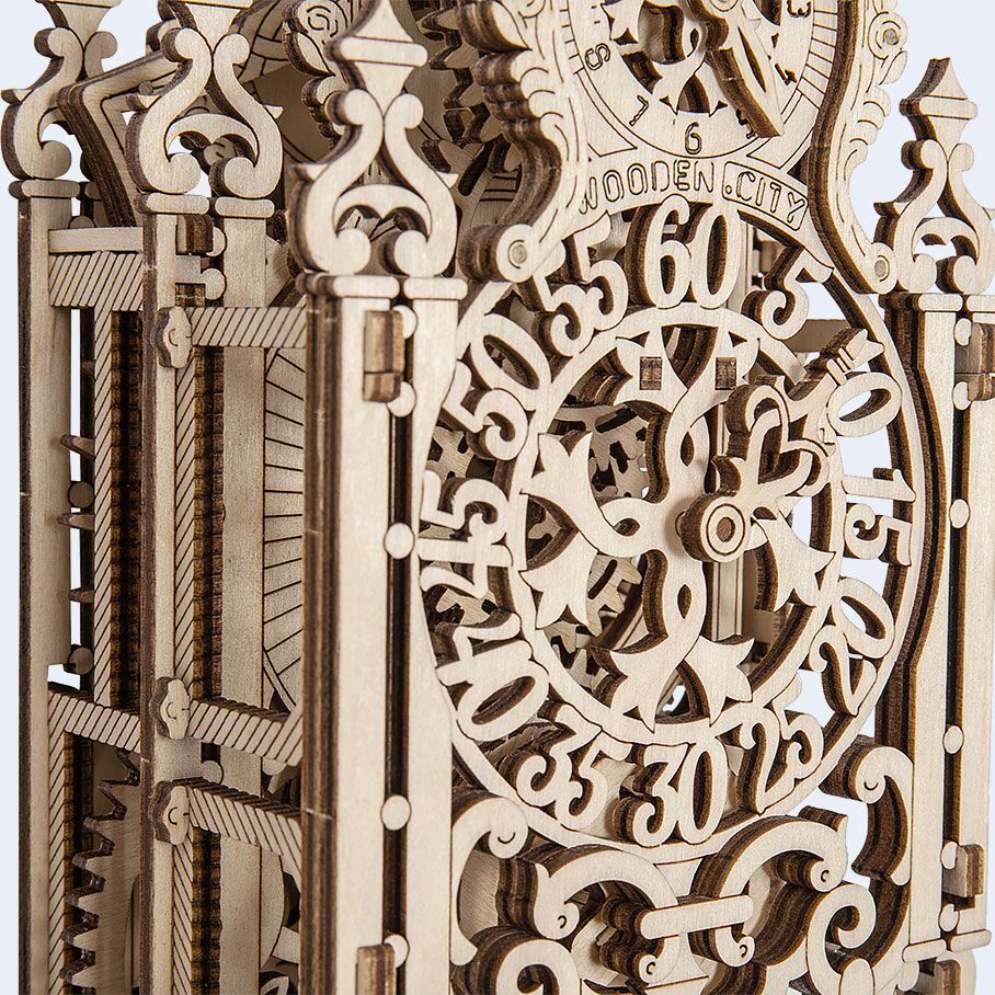 Wooden City® Royal Clock Kinetic Laser Cut Model Kit