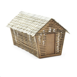 Corn Crib Kit, HO Scale,