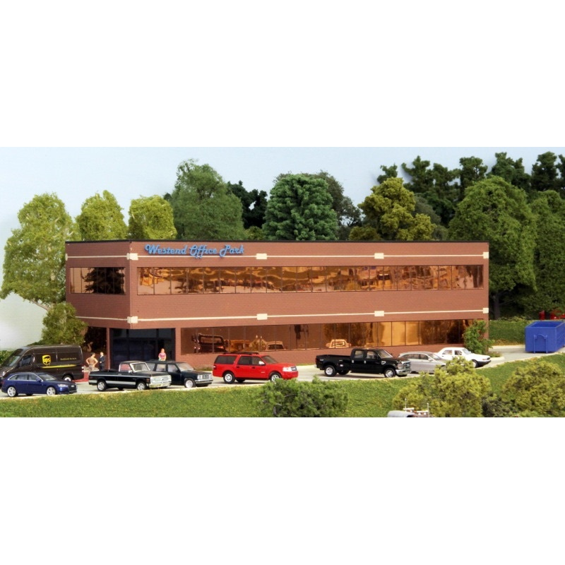 Customcuts by Summit Modern Office Building Kit, HO Scale