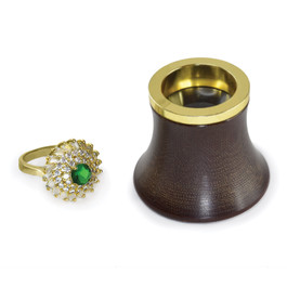 Wood and Gold-Plated 10x Loupe