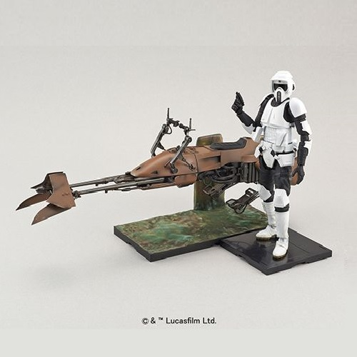 Bandai Scout Trooper & Speeder Bike
