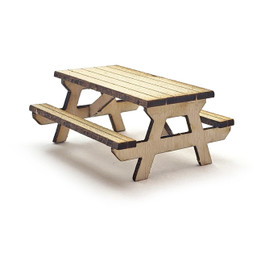 Picnic Table, HO Scale, By Scientif