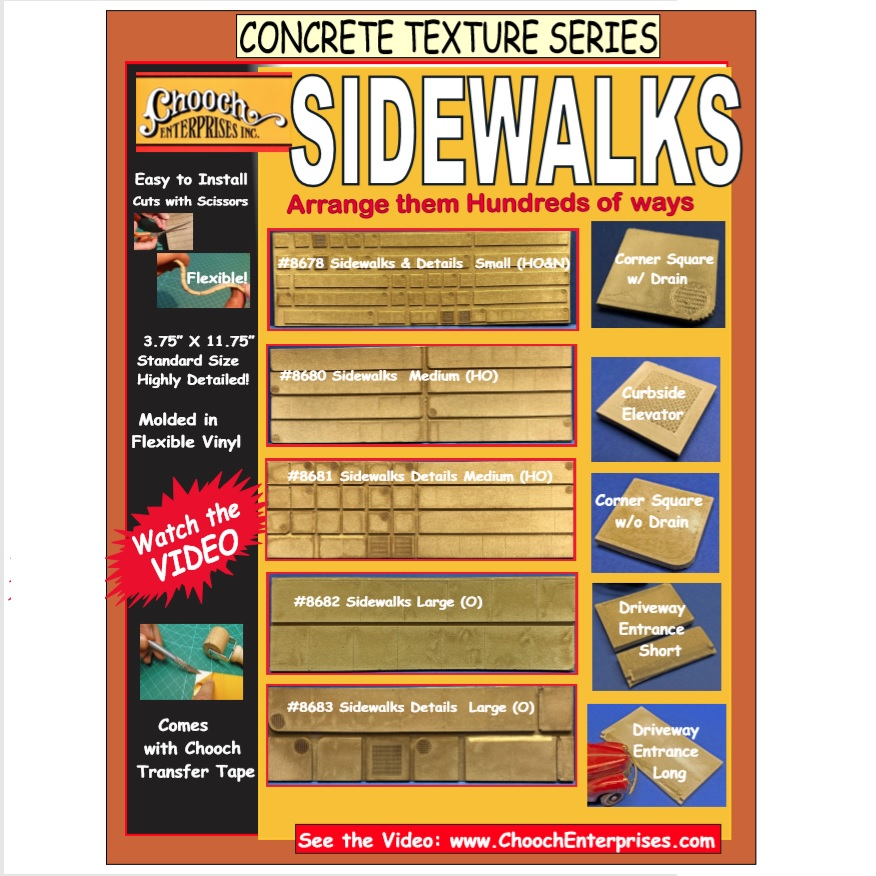 Chooch Sidewalks & Details, N Scale