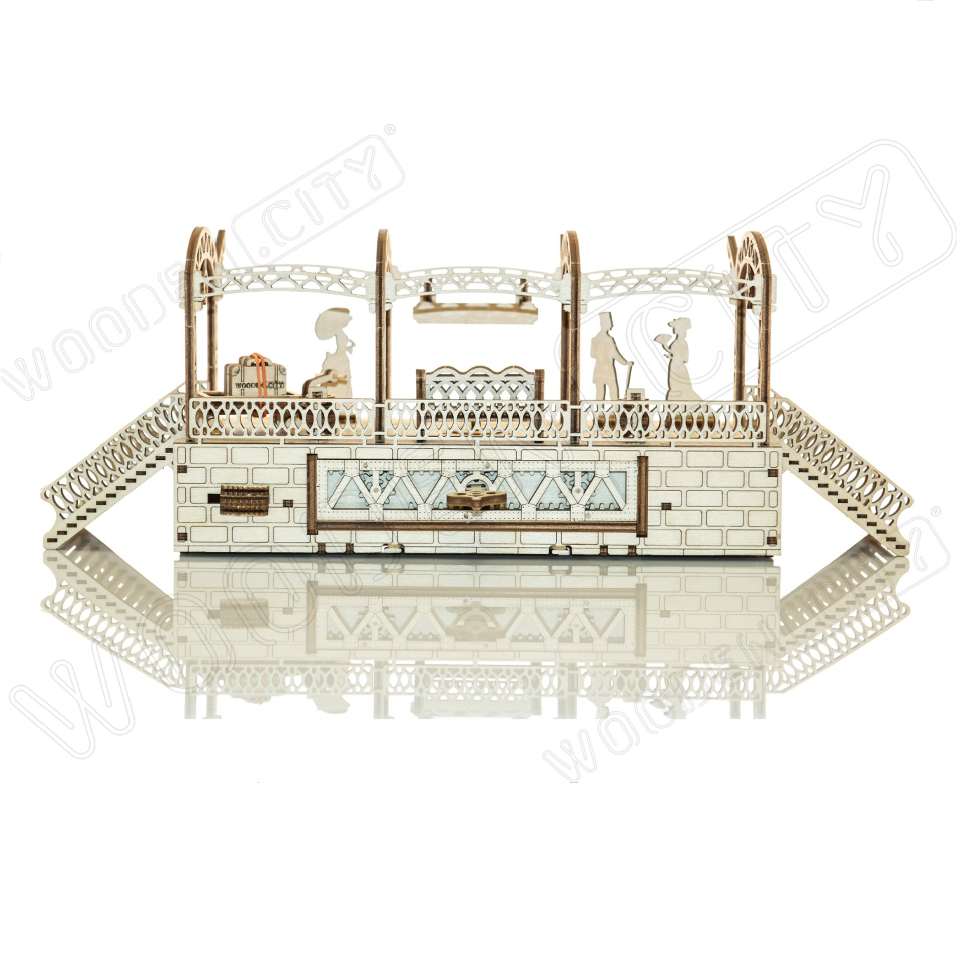 Train Station Laser Cut Model Kit