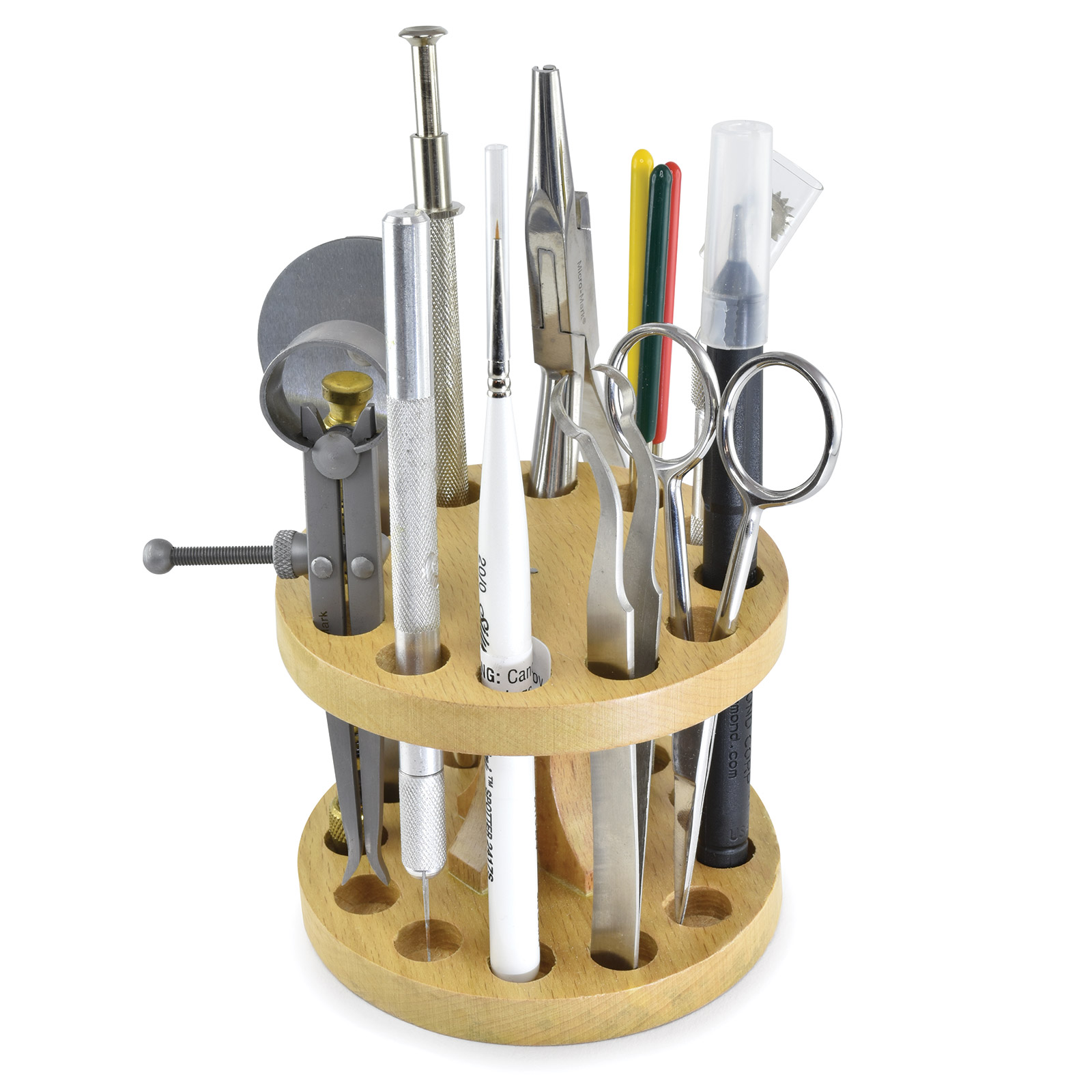 12-Space Wooden Tool Organizer