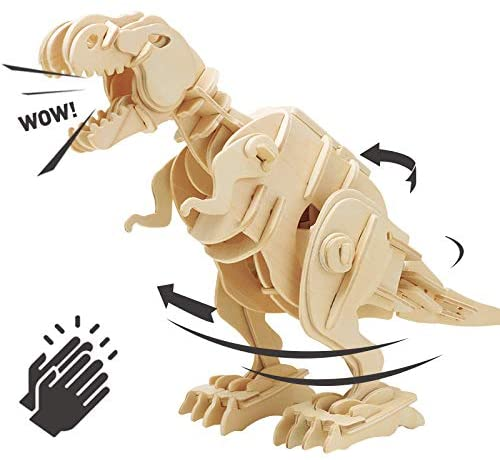 Wooden Kinetic T-Rex from Robotime®