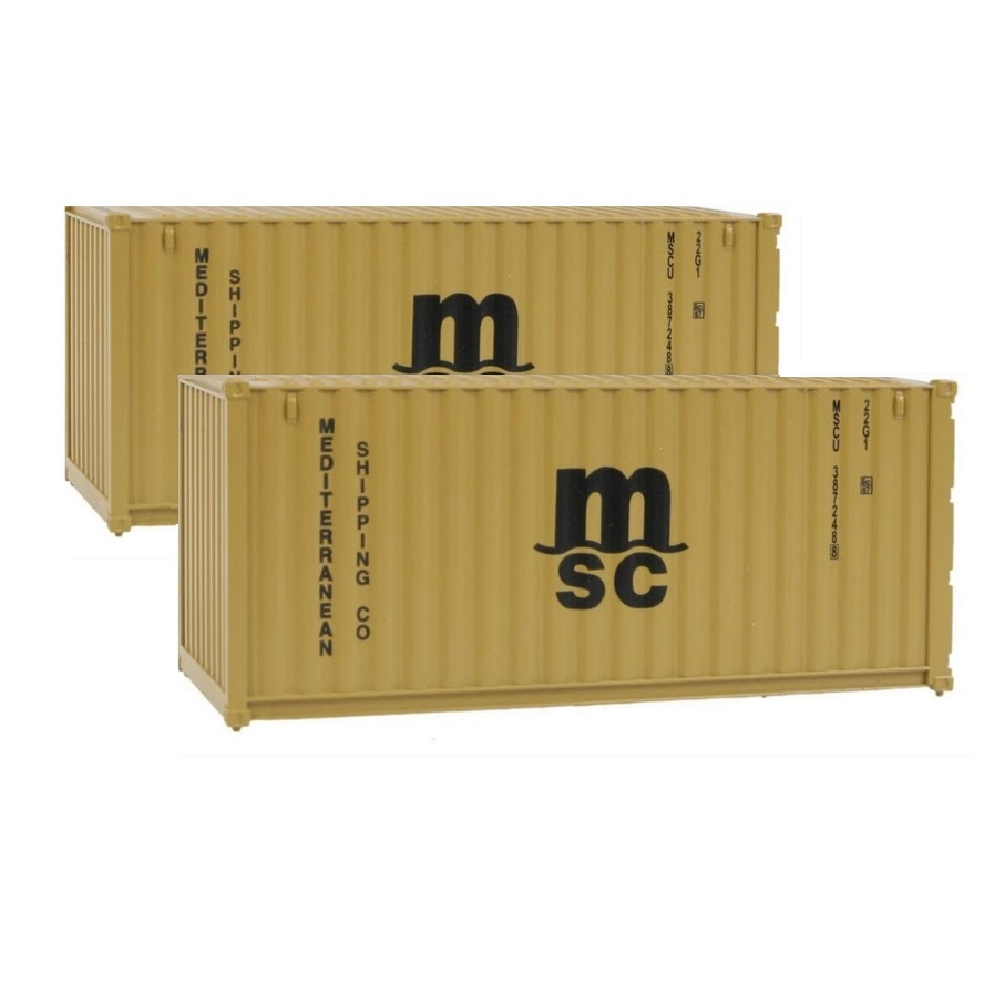 Walthers MSC Container Pair