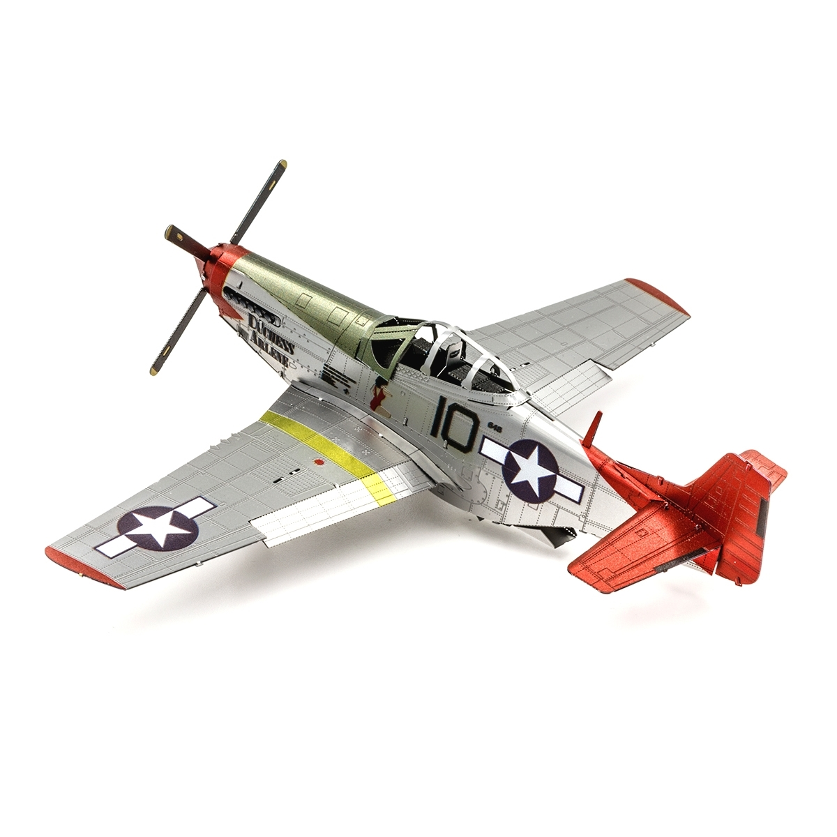 Fascinations ICONX Tuskegee Airmen P-51D Mustang 3D Metal Earth Model Kit ICX142