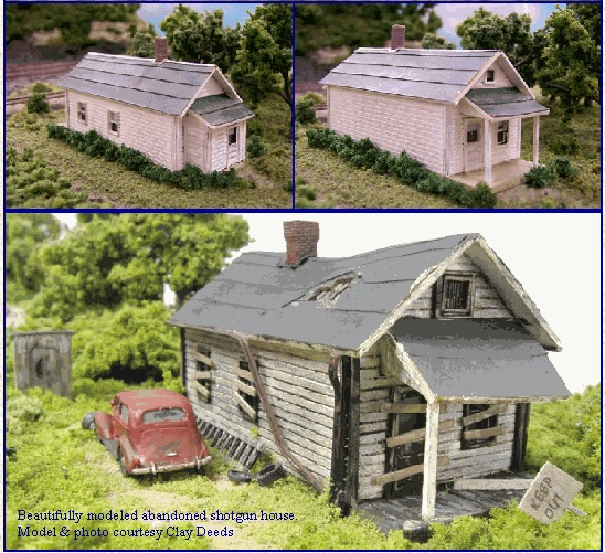 Shotgun House Z Scale 3 Pack
