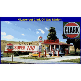 "Blair Line ""Clark Oil"" Gas Station"