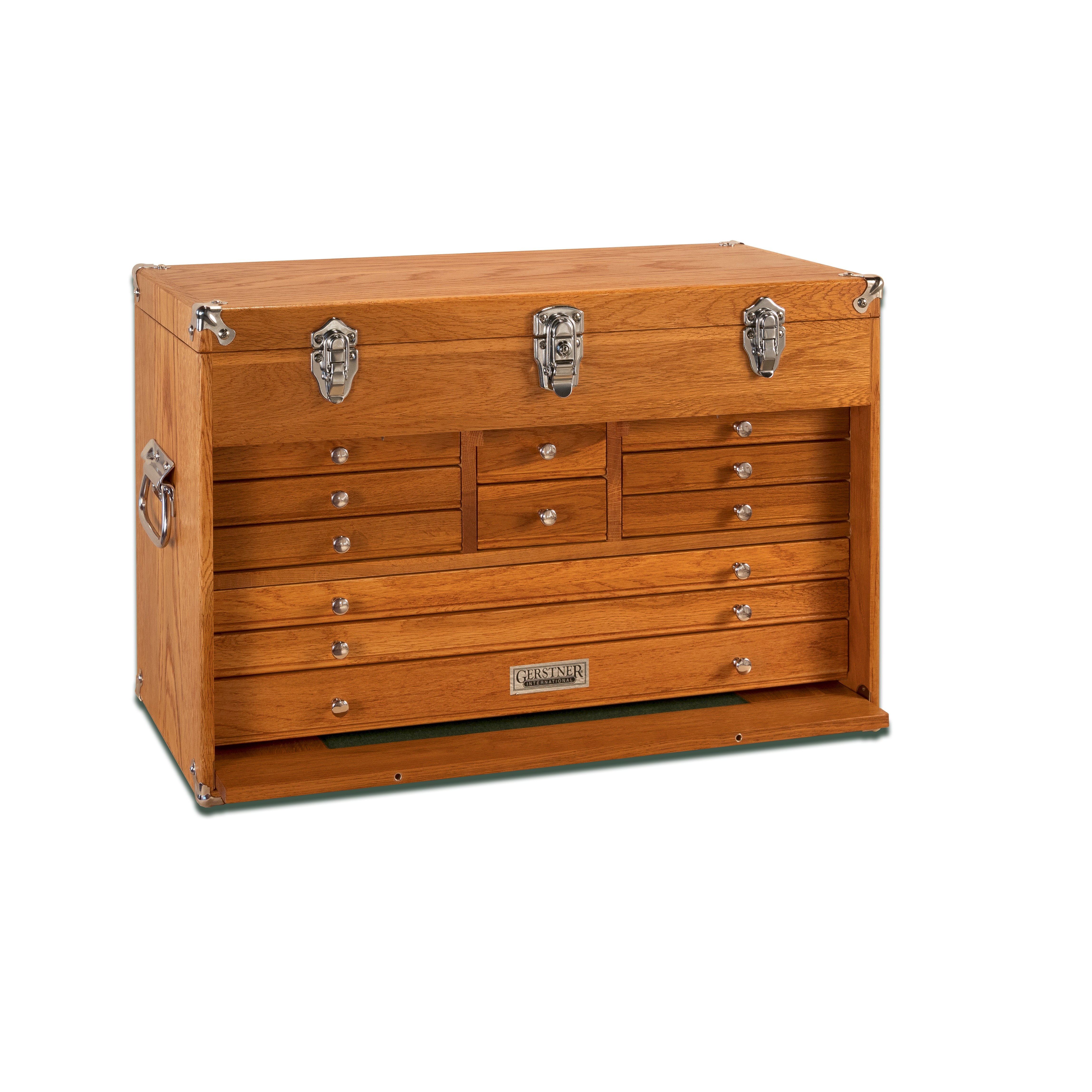 Oak 11-Drawer Chest, Top